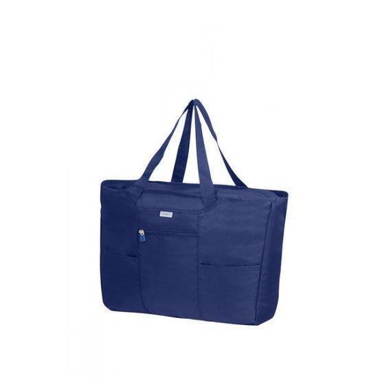 Дамска сгъваема чанта Samsonite с калъфче, синя