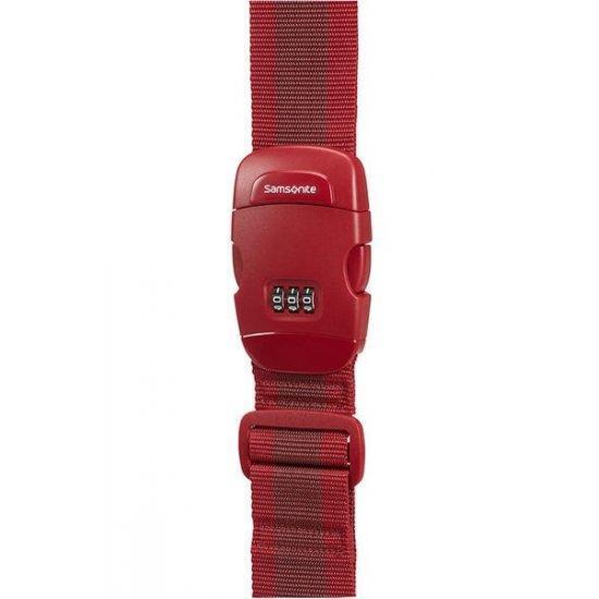 Колан за пристягане на багаж Samsonite с трицифрен код червен цвят