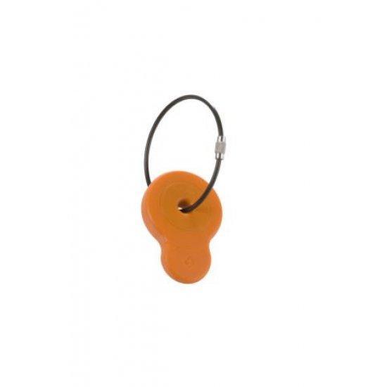 Етикет за адрес подходящ за куфари Samsonite, оранжев