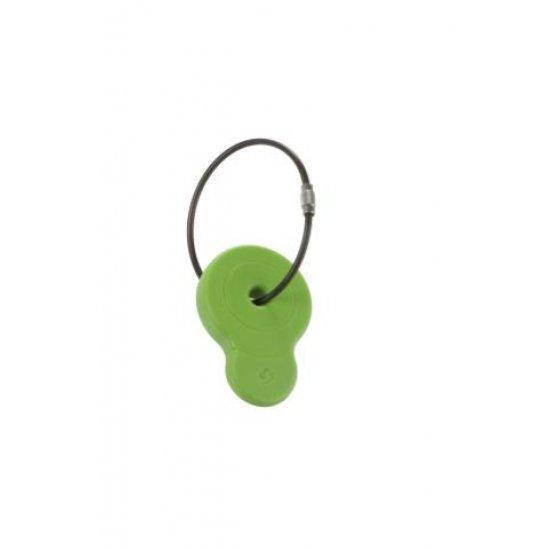 Етикет за адрес подходящ за куфари Samsonite зелен цвят