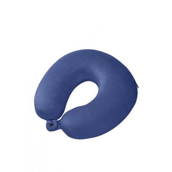Възглавничка за път Samsonite, с мемори пяна цвят син