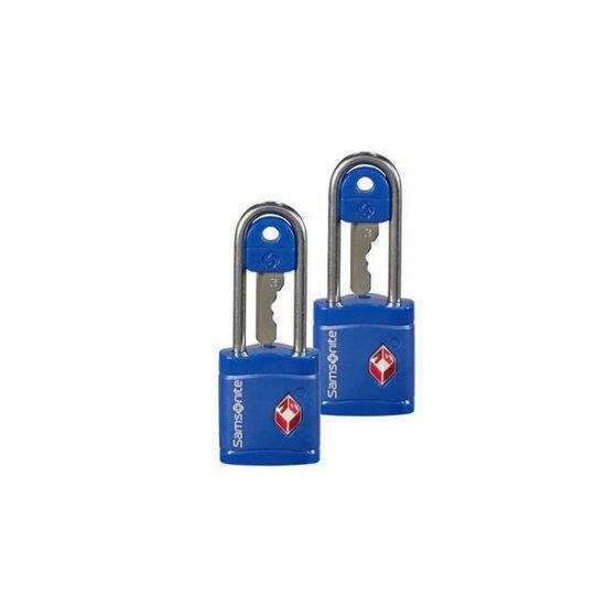 Катинар с ключ Samsonite Travel Accessories TSA син цвят 2 броя в сет