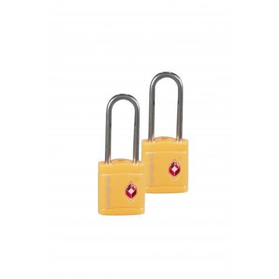 Катинар с ключ Travel Accessories TSA жълт цвят 2 броя в сет