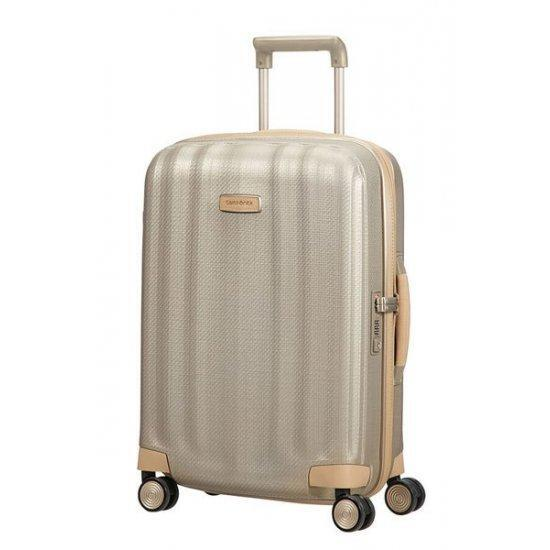 Куфар на 4 колела Samsonite Lite-Cube Prime 55 см Matt Ivory Gold