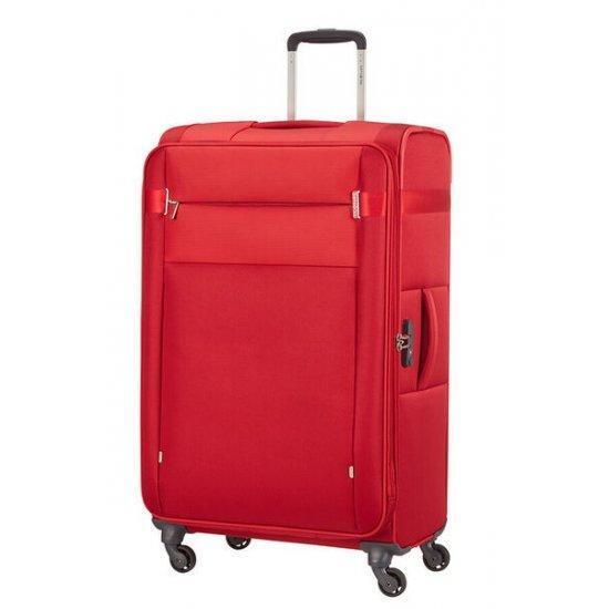 Куфар на 4 колела Samsonite Citybeat 78 см с разширение, червен