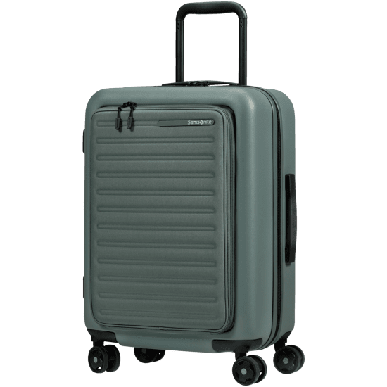 Куфар Samsonite Stackd 55см. с разширение за 15,6 инча лаптоп, зелен