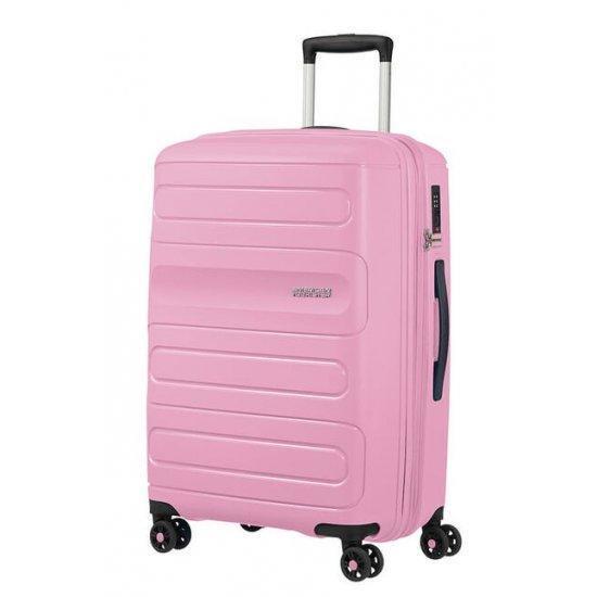 Куфар на 4 колела American Tourister Sunside 68 cm с разширение, розов