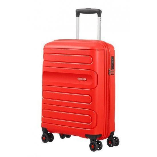 Куфар на 4 колела American Tourister Sunside 55cm, червен