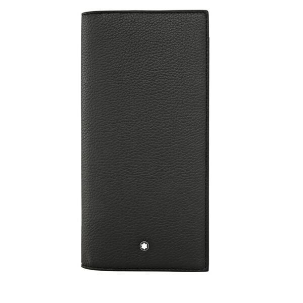 Висок мъжки портфейл Montblanc Meisterstuck 14CC, джоб с цип, черен