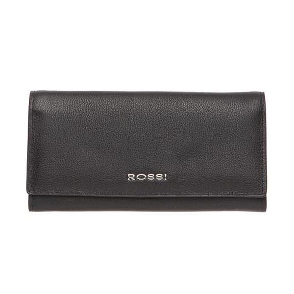 Дамско портмоне ROSSI, хоризонтално в черен цвят