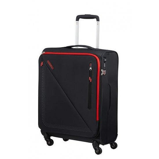 Куфар на 4 колела American Tourister Lite Volt 55 см черно/червено