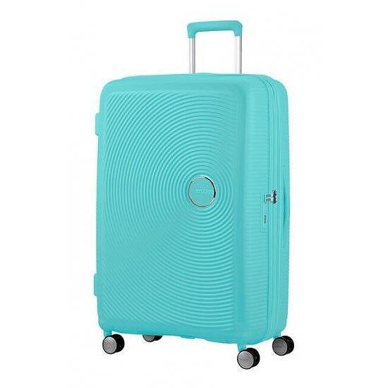 Куфар на 4 колела Samsonite Soundbox 77cm с разширение Poolside Blue