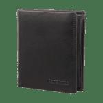 Портфейл от естествена кожа Attack 2 SLG с отделения за карти и монети RFID защита черен цвят