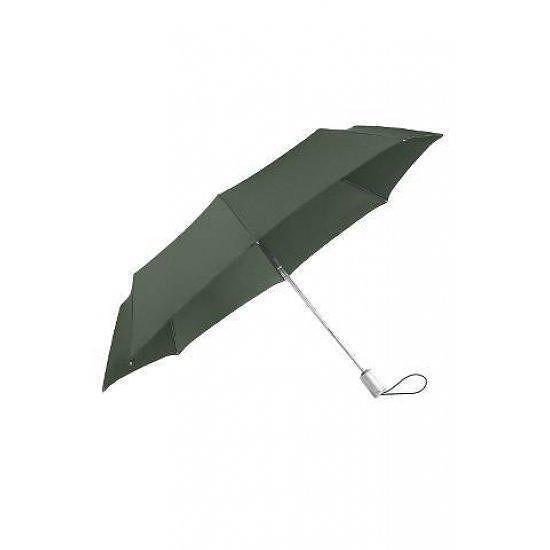 Plu Essential тройно сгъваем автоматичен чадър зелен цвят