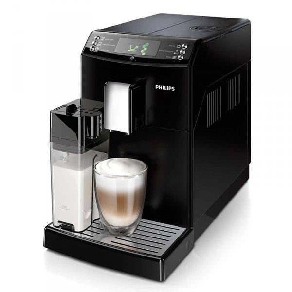 Philips кафеавтомат HD8834/09, мощност 1850W,налягане 15bar.Голям дисплей,керамична кафемелачка, вградена кана за мляко