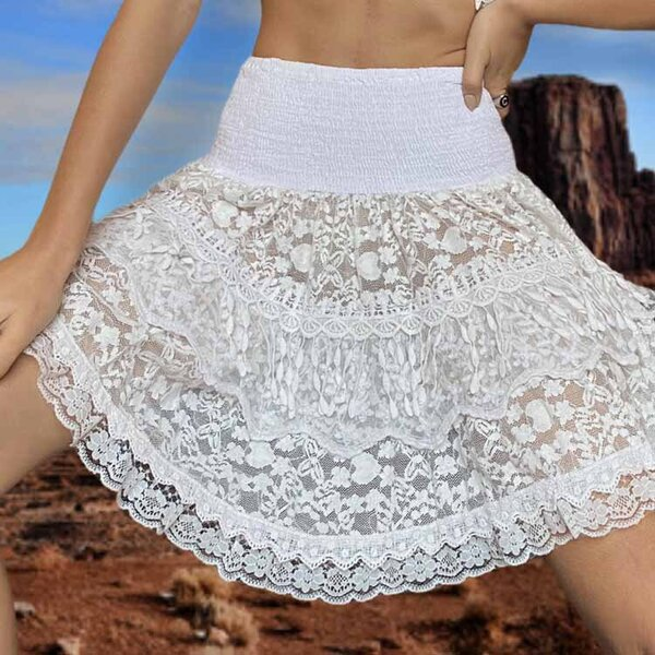 Къса пола с висока талия Moda di Napoli P013B