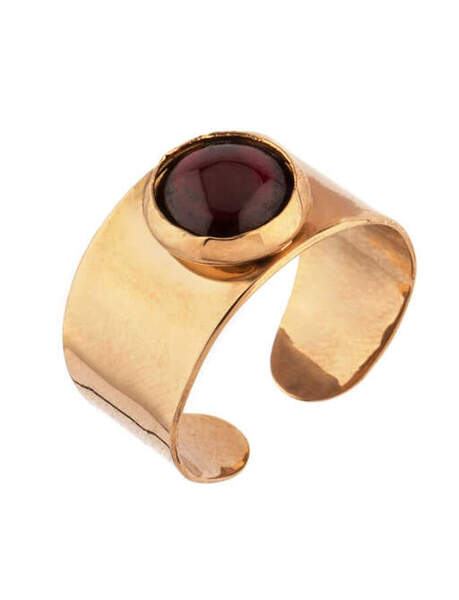 Бляскав пръстен с гранат VER71-GN SATELLITE PARIS