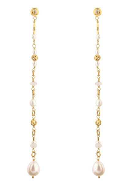 Женствени обеци с перли BLA07TP-B SATELLITE PARIS