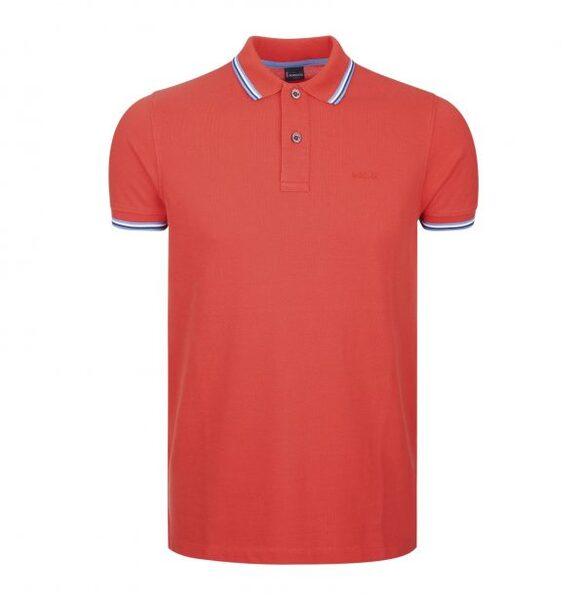 Мъжка тениска с яка LION OF PORCHES P311072322