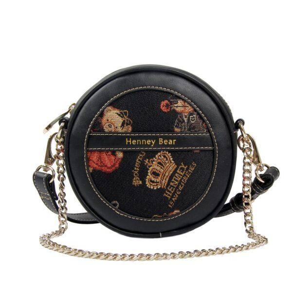 Дамска чанта с принт мечета и корони H-364 HENNEY BEAR