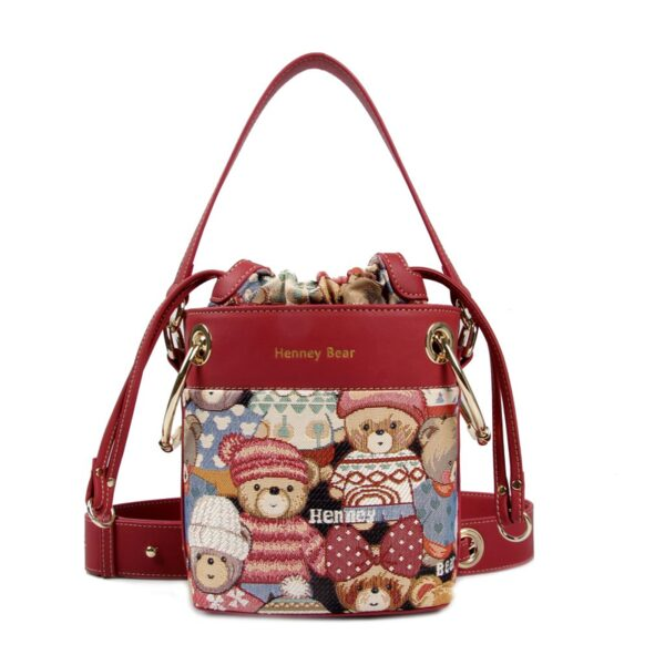 Дамска чанта с принт мечета с шапчици H-360 CUTE HENNEY BEAR