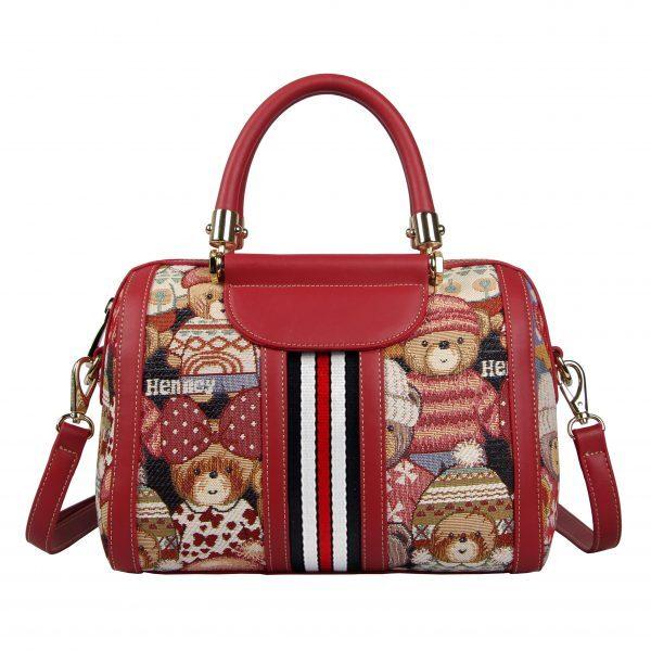 Дамска чанта с принт мечета с шапчици H-259L CUTE HENNEY BEAR