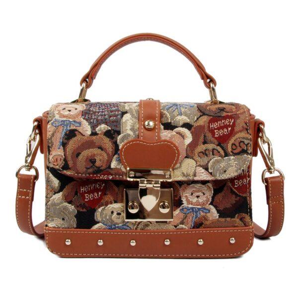 Дамска чанта с принт плюшени мечета H-303 TEDIE HENNEY BEAR