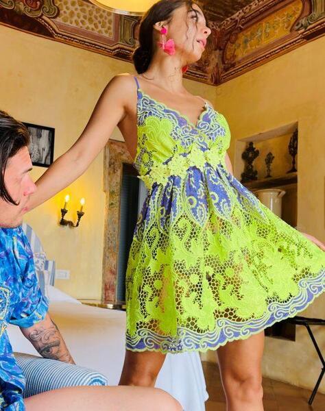 Къса рокля с презрамки Moda di Napoli AW030