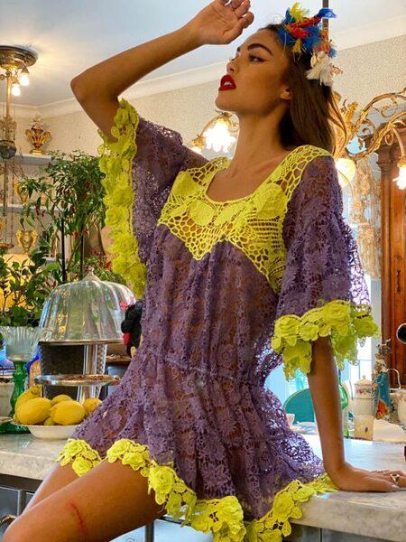 Къса дамска рокля Moda di Napoli AW027