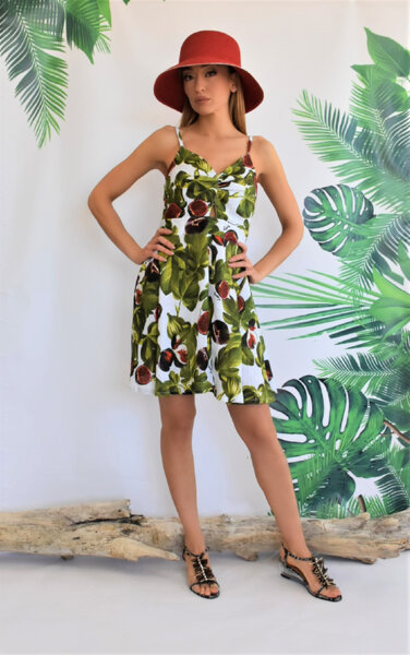 Къса рокля N290-Figue Gardens of Amalfi