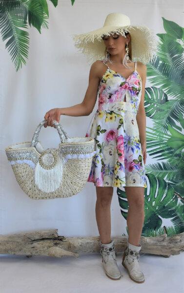 Къса рокля с презрамки N290R Gardens of Amalfi
