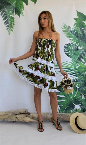 Къса рокля без презрамки N291-Fugie Moda di Napoli