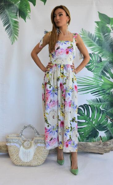 Дълга рокля с панделки N300R Gardens of Amalfi