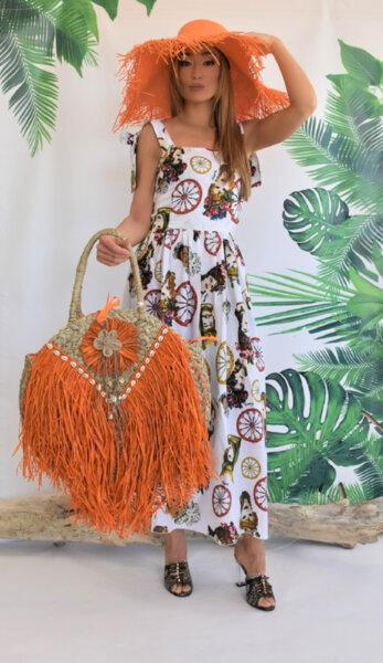 Дълга рокля с панделки N300S Gardens of Amalfi