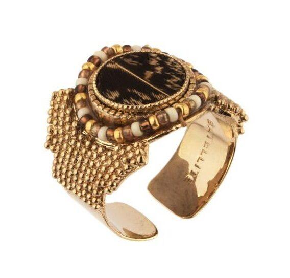 Стилен пръстен с пера от фазан SATELLITE PARIS CLA70-PN