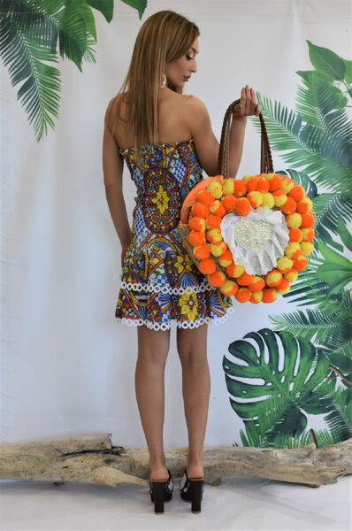 Плажна чанта Orange Heart Gardens of Amalfi