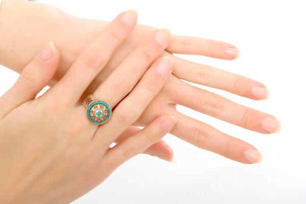 Цветен пръстен с кристали IVA72-B SATELLITE PARIS