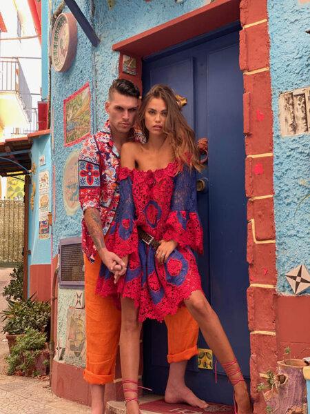 Къса рокля с голи рамене AW022 Moda di Napoli