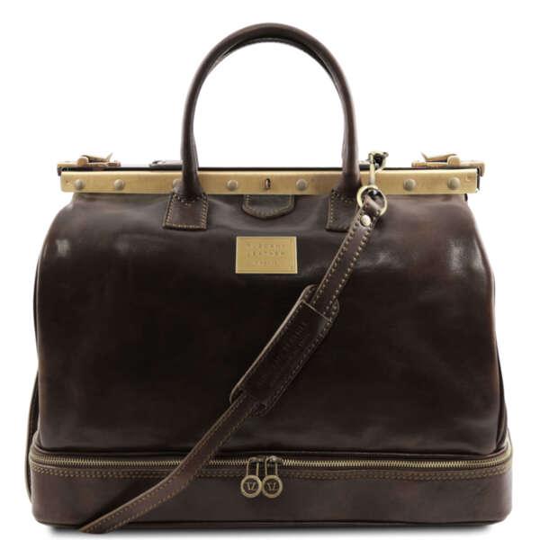 Лекарска чанта от естествена кожа Barcellona TL141185