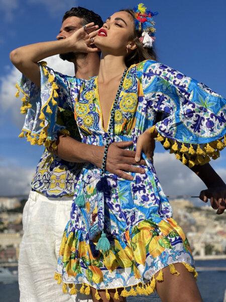 Къса рокля AC037 Moda di Napoli