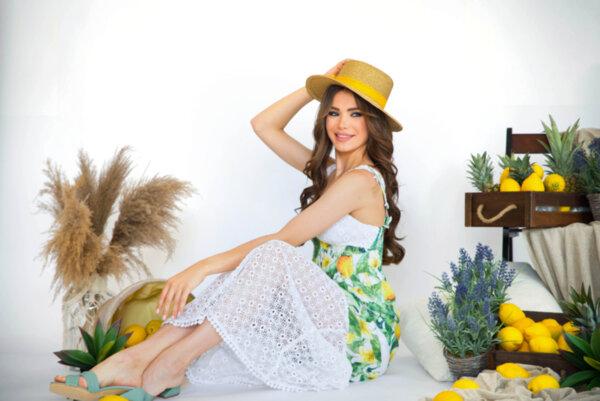 Дълга рокля Gardens of Amalfi N299-Lemon