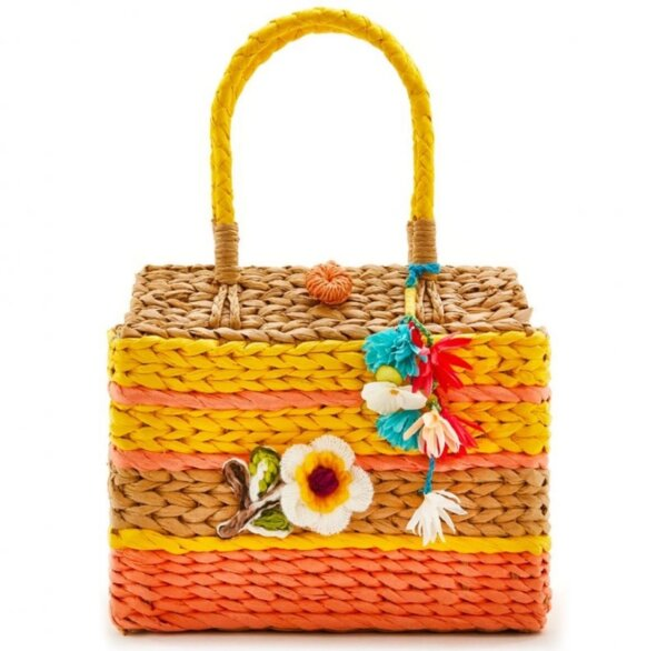 Цветна сламена чанта EMANUELA BIFFOLI 21710
