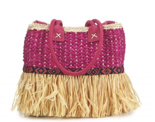 Розова чанта с ресни EMANUELA BIFFOLI 21839