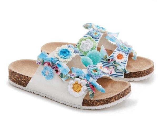 Цветни дамски чехли EMANUELA BIFFOLI 370802