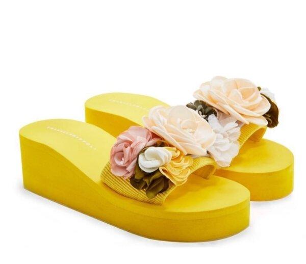 Дамски чехли с цветя EMANUELA BIFFOLI 37021