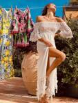 Дълга рокля с голи рамене AW168 Moda di Napoli