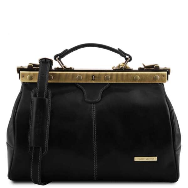 Лекарска чанта от естествена кожа Michelangelo TL10038