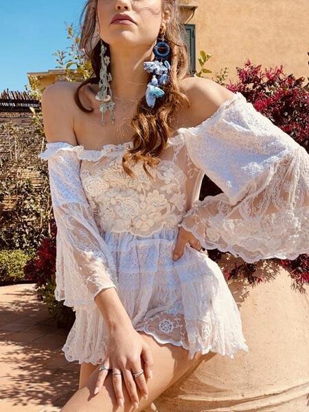 Блуза с голи рамене C285 Moda di Napoli