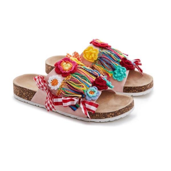 Цветни дамски чехли EMANUELA BIFFOLI 370801