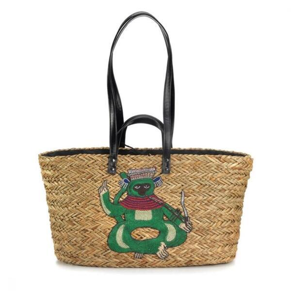 Сламена чанта с лемур EMANUELA BIFFOLI 21827